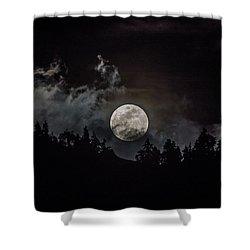 Tahoe Moon Cloud Shower Curtain