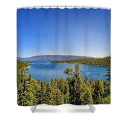 Tahoe Moutain View Shower Curtain