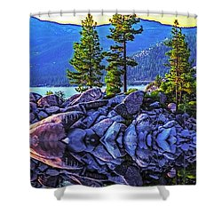 Tahoe Water Reflections Shower Curtain