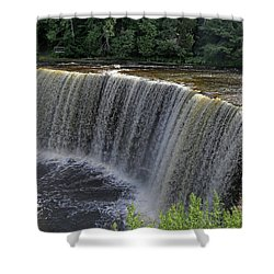 Tahquamenon Upper Falls 4 Shower Curtain by Mary Bedy