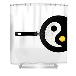 Shower Curtain featuring the photograph Taijitu by Gert Lavsen