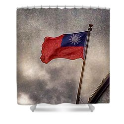 Taiwan Flag Shower Curtain