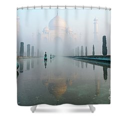 Taj Mahal At Sunrise 01 Shower Curtain