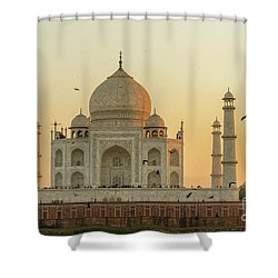 Taj Mahal At Sunset 01 Shower Curtain
