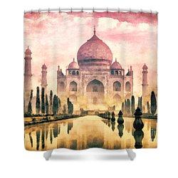 Taj Mahal Shower Curtain by Mo T
