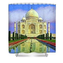 Taj Mahal Morning Shower Curtain