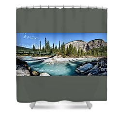 Takakkaw Falls Shower Curtain by Brad Allen Fine Art