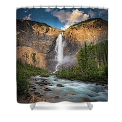 Shower Curtain featuring the photograph Takakkaw Falls Of Yoho National Park by William Lee