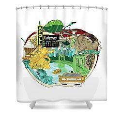 Take A Bite Shower Curtain