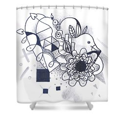 Take A Chance Shower Curtain by Helena Tiainen