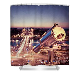 Shower Curtain featuring the photograph Take A Look At Paris by Hannes Cmarits