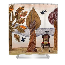 Take A Rest In Autumn Shower Curtain
