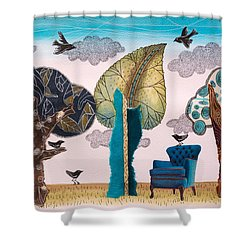 Take A Rest In Spring Shower Curtain