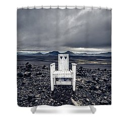 Shower Curtain featuring the photograph Take A Seat Iceland by Edward Fielding