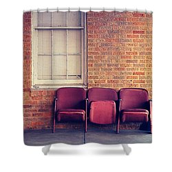 Shower Curtain featuring the photograph Take A Seat by Trish Mistric