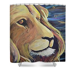 Shower Curtain featuring the painting Take Courage by Lisa DuBois