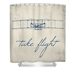 Take Flight Shower Curtain by Brandi Fitzgerald
