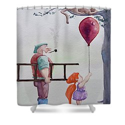 Take It Please Shower Curtain by Geni Gorani