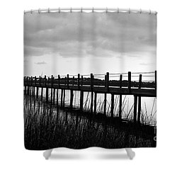 Take Me Away Shower Curtain by Scott Pellegrin