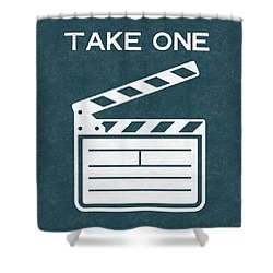 Take One- Art By Linda Woods Shower Curtain