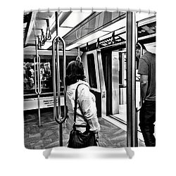 Shower Curtain featuring the photograph Take The A Train by Artists With Autism Inc