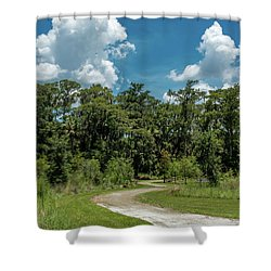 Take The Path Less Traveled Shower Curtain