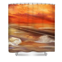 Take The Weather With You Shower Curtain by Iryna Goodall