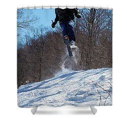 Shower Curtain featuring the photograph Taking Air On Mccauley Mountain by David Patterson