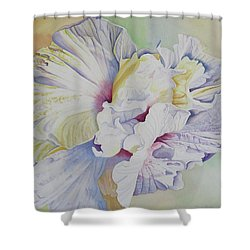 Shower Curtain featuring the painting Taking Flight by Teresa Beyer