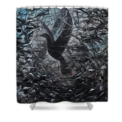 Shower Curtain featuring the painting Taking Flight by Tone Aanderaa