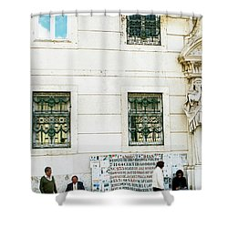Taking It To The Streets Shower Curtain by Lorraine Devon Wilke