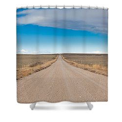Shower Curtain featuring the photograph Taking The Back Road by Fran Riley