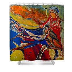 Taking The Reins Shower Curtain