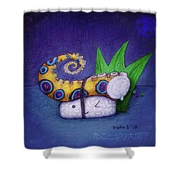 Tako Nigiri Big Excellency Shower Curtain