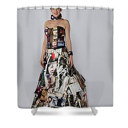 Megan In Gown Shower Curtain