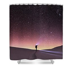 Talking To The Stars Shower Curtain by Evgeni Dinev