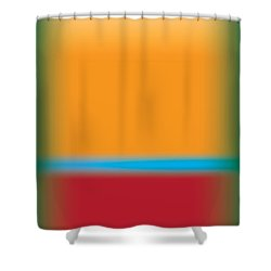 Tall Abstract Color Shower Curtain