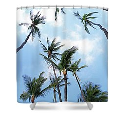 Tall And Lanky Shower Curtain by Mary Haber