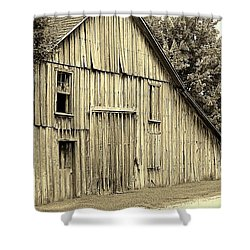 Tall Barn Shower Curtain