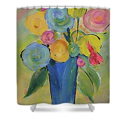 Tall Floral Order Shower Curtain