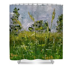 Shower Curtain featuring the painting Tall Grass by Judith Rhue