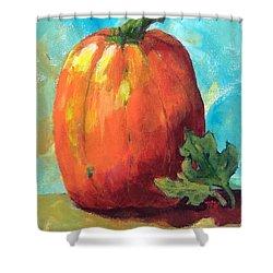 Tall Pumpkin Shower Curtain
