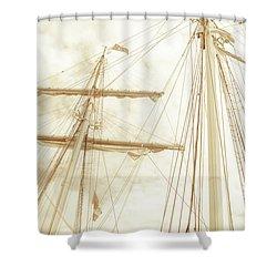 Tall Ship - 1 Shower Curtain