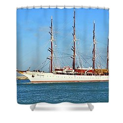 Tall Ship Sea Cloud  Shower Curtain