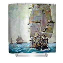 Tall Ships 2 Shower Curtain