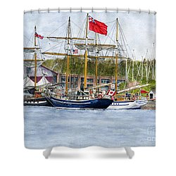 Shower Curtain featuring the painting Tall Ships Festival by Melly Terpening