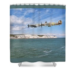 Shower Curtain featuring the photograph Tally Bally Ho by Roy McPeak