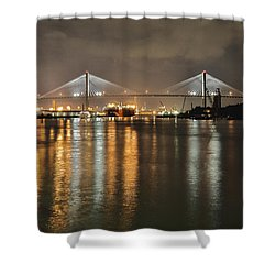 Talmadge Memorial Bridge Shower Curtain