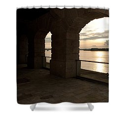 Tamar Estuary Sunset Shower Curtain