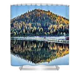 Tamarack Glow Idaho Landscape Art By Kaylyn Franks Shower Curtain
